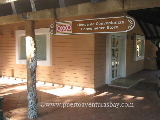 Front of OXXO convenience store Puerto Aventuras Mexico