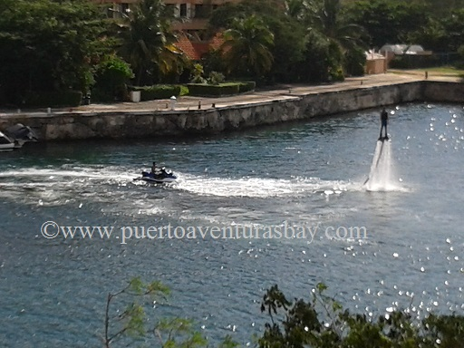Morning jet boot ride in Puerto Aventuras, Mexico