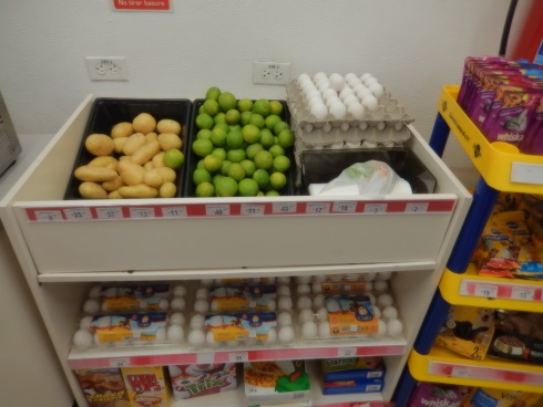 fresh eggs and produce at the OXXO convenience store Puerto Aventuras Mexico