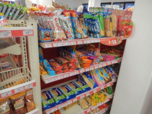 Candy pastries at the OXXO convenience store Puerto Aventuras Mexico